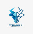 logo strong bull gradient colorful style