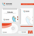 medical call logo calendar template cd cover vector image