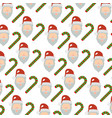 merry christmas sweet cane decoration vector image
