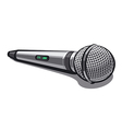 modern plugged microphone vector image