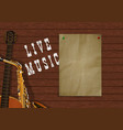 music background with wooden planks vector image vector image