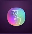 new follower button click app icon vector image vector image