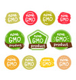 none gmo product icon isolated logo vector image vector image