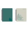 notebook water vector image vector image