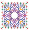 oriental ornament pattern colorful design vector image vector image