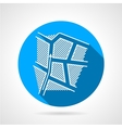 Paintball strategy round icon vector image