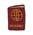 passport hand drawn vector image