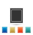 postal stamp icon isolated on white background vector image vector image