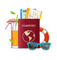 realistic 3d detailed travel concept vector image vector image