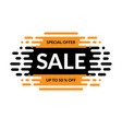 sale banner special offer design vector image vector image