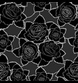 seamless floral pattern with black roses vector image vector image