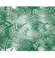 seamless pattern with green palm twigs vector image vector image