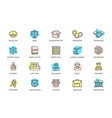 set crime law police and justice vector image vector image