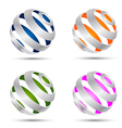 Set of abstract spheres vector | Price: 1 Credit (USD $1)