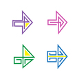 Set Of Stylized Arrows For Design Purposes vector image vector image