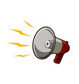 shouting bullhorn loudspeaker retro vector image