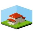 Small Suburban House vector image vector image