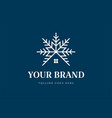 snow symbol with house for cottage cabin chalet vector image vector image
