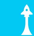 startup rocket banner with rocket vector image vector image