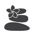 stones for massage glyph icon vector image vector image