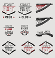 Street fight brass knuckles vector image vector image