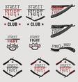 Street fight brass knuckles vector image