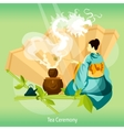 Tea Ceremony Background vector image vector image