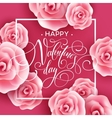 Valentines Day card with Roses Background vector image vector image