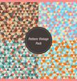 vintage geometry pattern set pack retro color vector image vector image