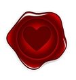 wax seal heart vector image