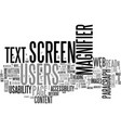 web accessibility for screen magnifier users text vector image vector image