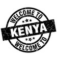 welcome to kenya black stamp vector image vector image