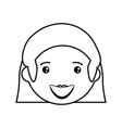woman adult young head vector image vector image