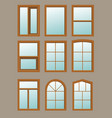 wooden window in the wall vector image vector image