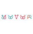 gender symbol icon set flat style vector image