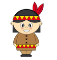 Child dressed as an American Indian vector image