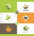 fresh food logo design vector image