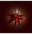 Abstract 3D Crystal Shape in Space vector image