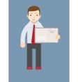 Businessman delivering mail vector image
