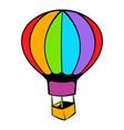 hot air balloon icon icon cartoon vector image