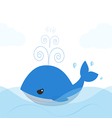 blue whale cartoon isolated over white background vector image