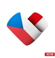 Flag icon in the form of heart I love Czech vector image