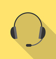 Headset with long shadow vector image