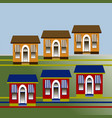 a group of stylized detached single-family houses vector image