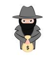 angry thief cartoon vector image