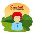 baseball sport player character vector image vector image