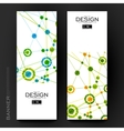 Beautiful banner template with DNA molecule vector image