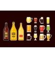 Beer glass set vector image vector image