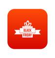 black friday ribbon icon digital red vector image vector image
