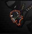 black shinobi esporst mascot logo vector image vector image